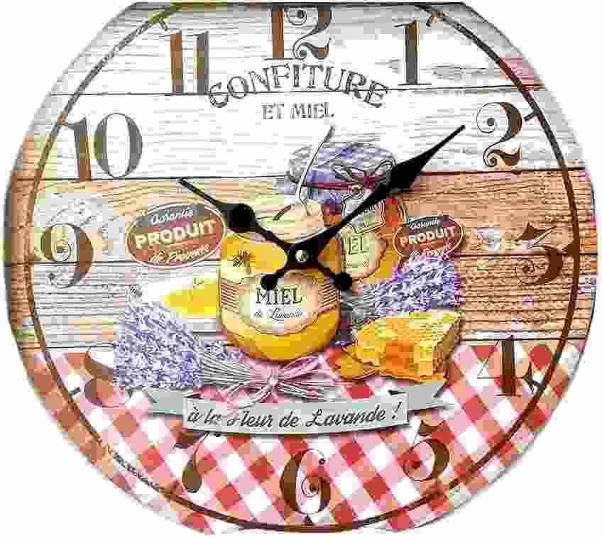 Horloge pendule vintage metal 1956 for Pendule de cuisine design
