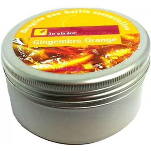 Bougie gingembre orange huiles essentielles boite alu