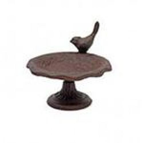 Bassin pour oiseau avec pied