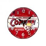 Horloge pendule vintage capsule rouge