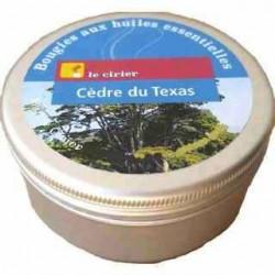 Bougie huiles essentielles cèdre du Texas