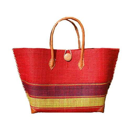 Sac cabas shopping rouge