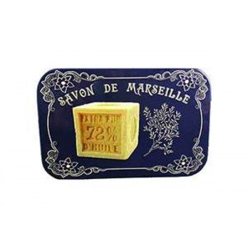 Boite voyage metal et savon de Marseille verveine pur végétal beurre karité
