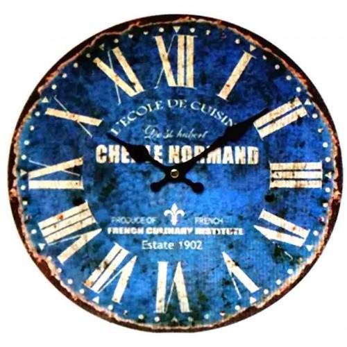 Horloge pendule vintage bleu