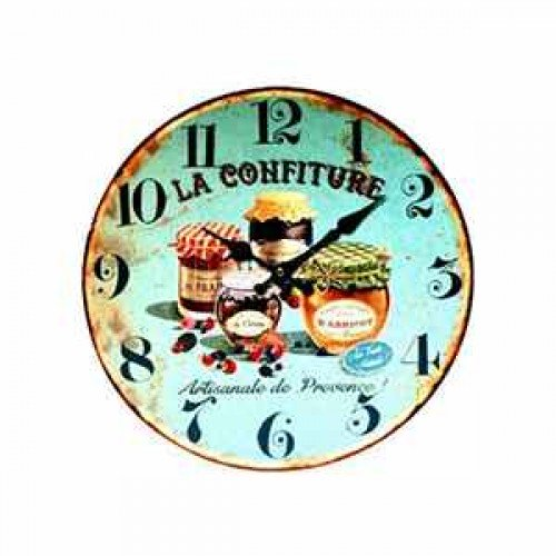 Horloge confiture bleue