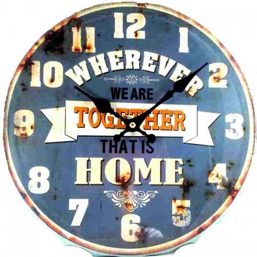Horloge pendule vintage capsule bleu