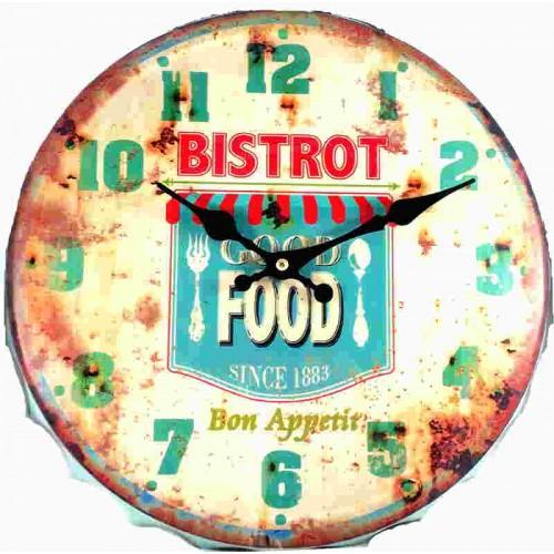 Horloge pendule vintage bon appetit