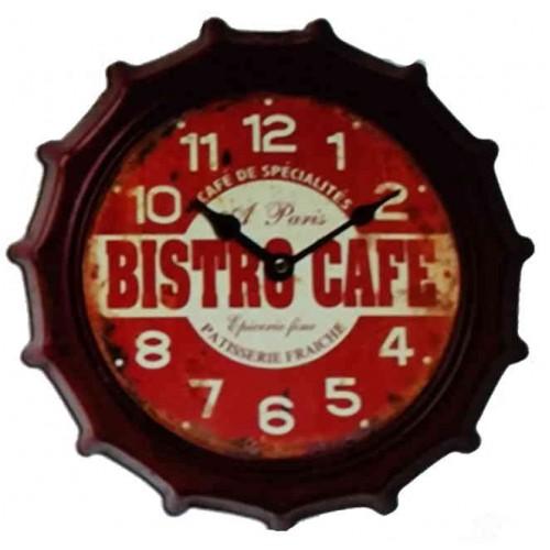 Horloge retro métal bistrot