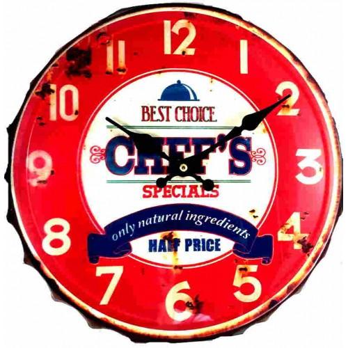 Horloge vintage capsule Chef rouge