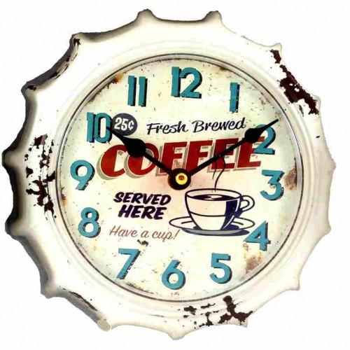 Horloge retro vintage blanche