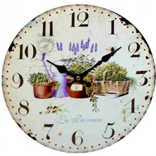 Horloge pendule vintage Pub blanche