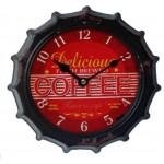 Horloge capsule vintage métal rouge