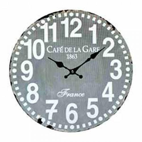 Horloge pendule vintage grise for Horloge grise