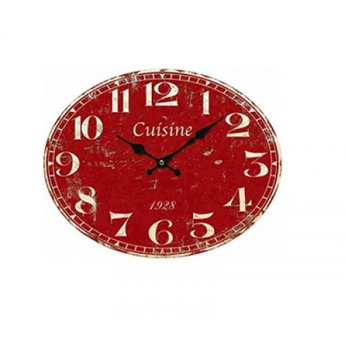 Horloge pendule rouge for Pendule rouge cuisine