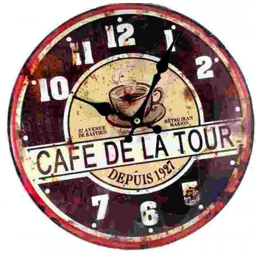 Horloge pendule vintage café