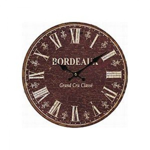 horloge pendule vintage bordeaux. Black Bedroom Furniture Sets. Home Design Ideas