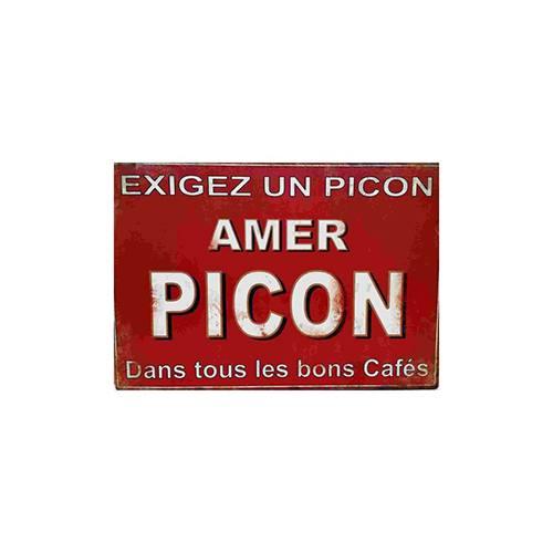 Plaque Picon amer émaillée pour cuisine ou bistrot