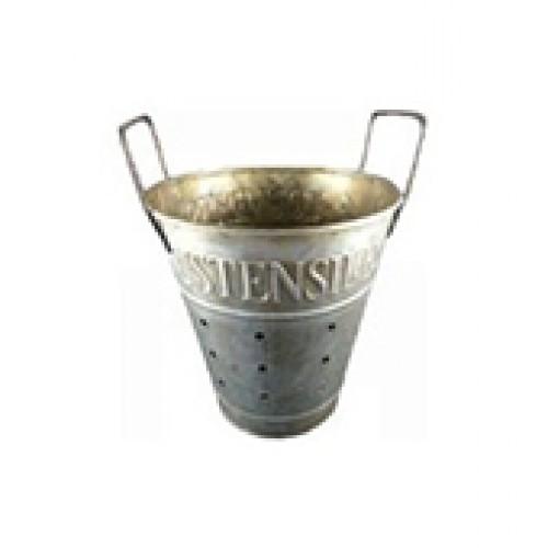 Pot à ustensiles en zinc