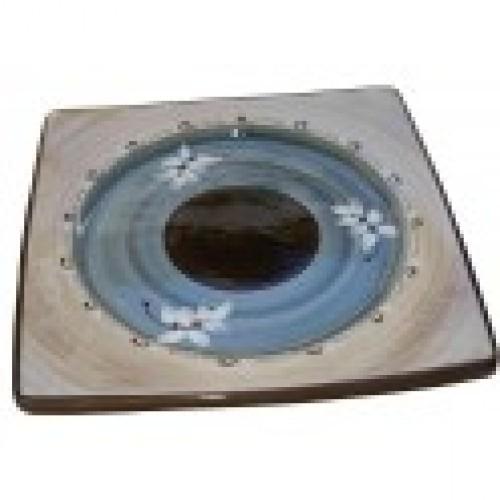 Assiette carrée céramique Vallauris
