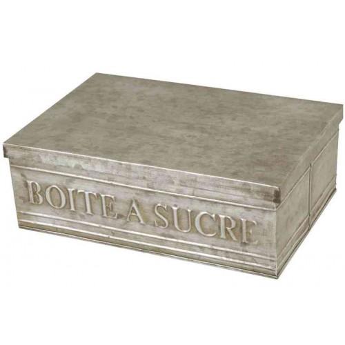 Boite sucre couleur zinc - Boite a eau zinc ...