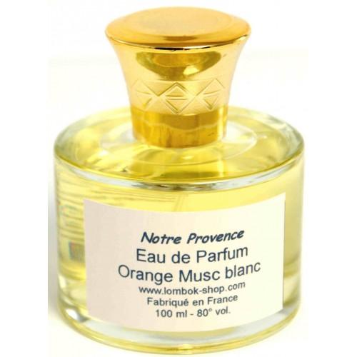 Eau de parfum Orange Musc blanc 100 ml