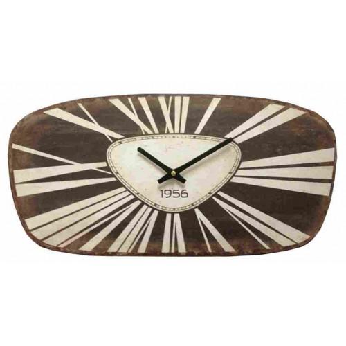 """Horloge Pendule  vintage metal """"1956"""""""