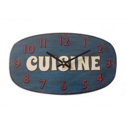 Pendule vintage Cuisine couleur bleue