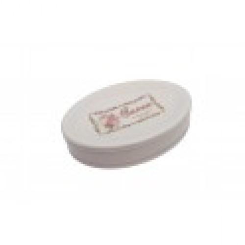 Porte savon vintage en ceramique blanche