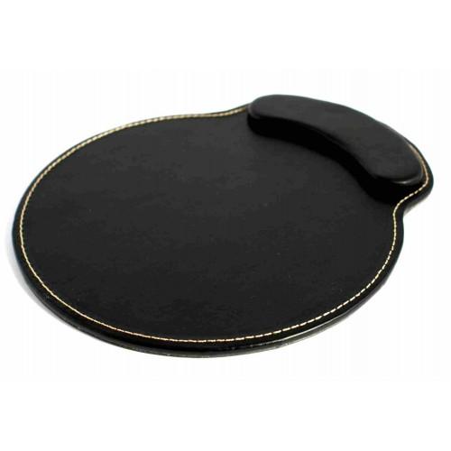 Tapis de souris noir en simili cuir